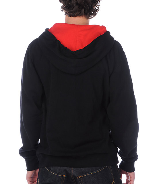 Neff Daily Black & Red Hoodie