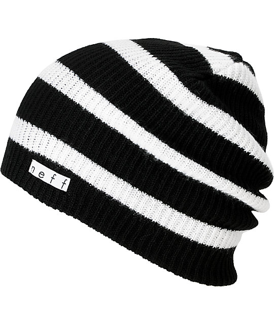 23c07eef680 Neff Daily Black   White Stripe Beanie