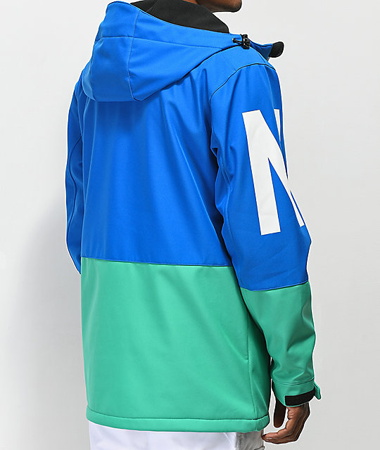 Neff Daily Blue & Teal 10K Softshell Jacket