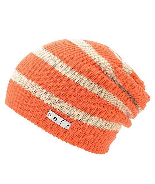 1508ae33efcdd8 Neff Daily Coral Stripe Sparkle Beanie | Zumiez