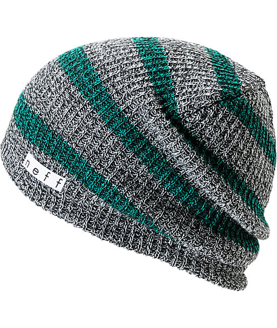 Neff Daily Grey   Green Striped Beanie  a2697389c26