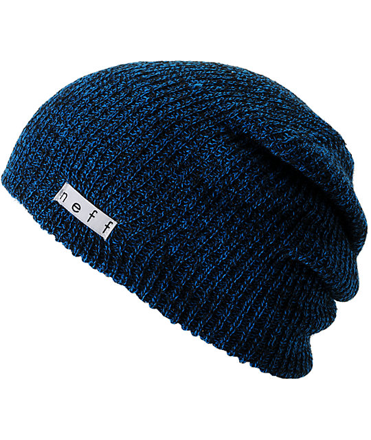 Neff Daily Heather Black & Blue Beanie