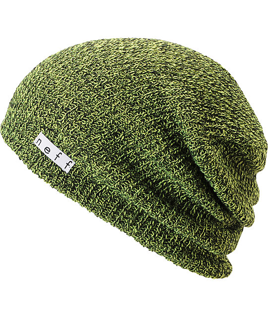 Neff Daily Heather Black   Neon Green Beanie  c7ed1d36b73