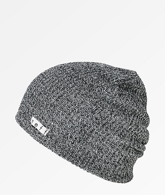 1ab15840fc4 Neff Daily Heather Black   White Beanie
