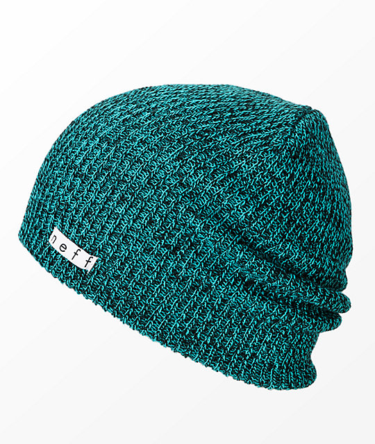 c6a7b8b64ed Neff Daily Heather Green   Black Beanie