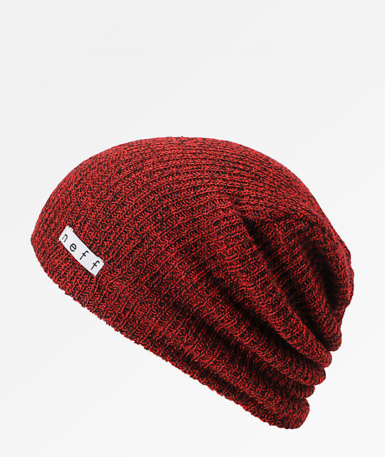 Neff Daily Heather Red   Black Beanie  ec775800514