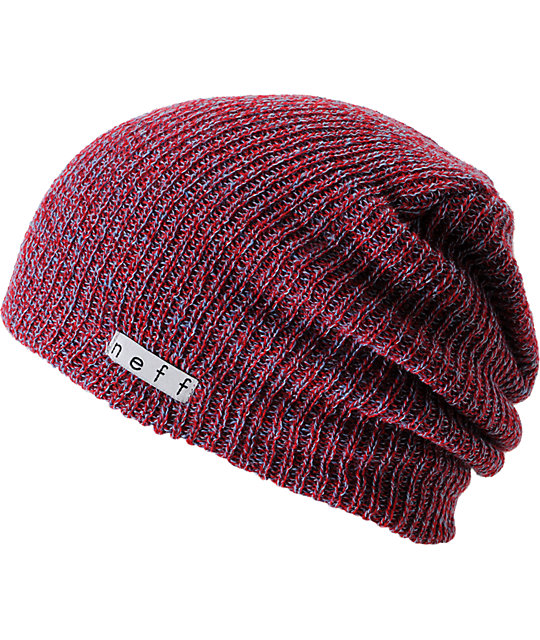 Neff Daily Heather Red   Blue Beanie  f1ec24473f1