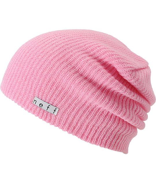 5bfcaa26ddd Neff Daily Light Pink Beanie