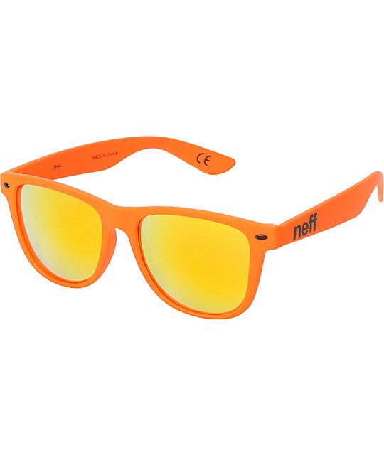 d21ffab6a2d Neff Daily Matte Orange Sunglasses