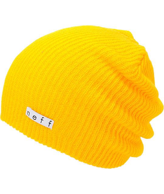 00d09134e0d Neff Daily Mustard Yellow Beanie