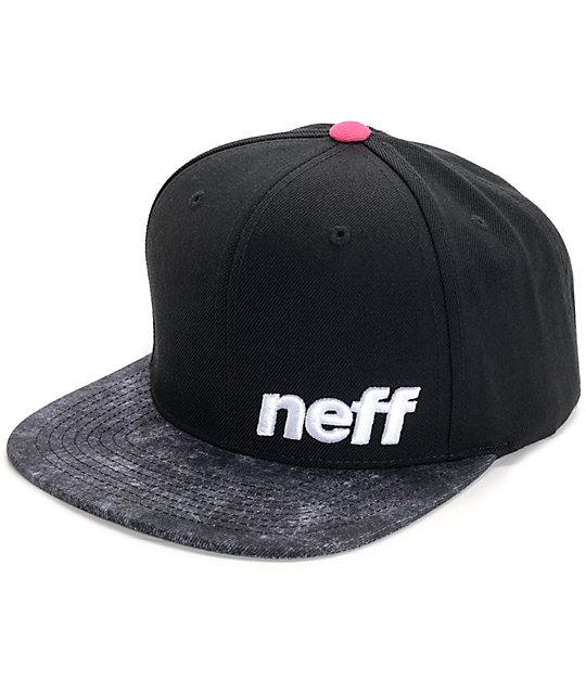 a2044113df5 Neff Daily Pattern Black   Crystal Snapback Hat