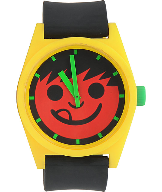 Neff Daily Rasta Smile Face Analog Watch