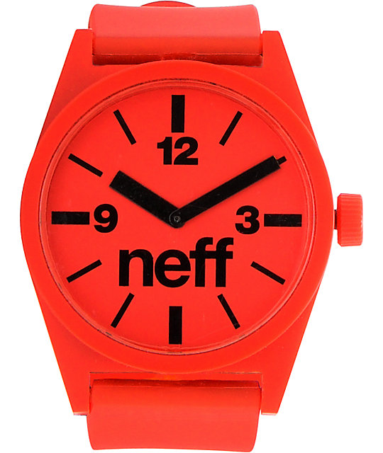 Neff Daily Red Analog Watch