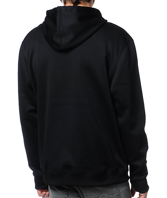 Neff Daily Shred Black Zip Up Tech Fleece Jacket