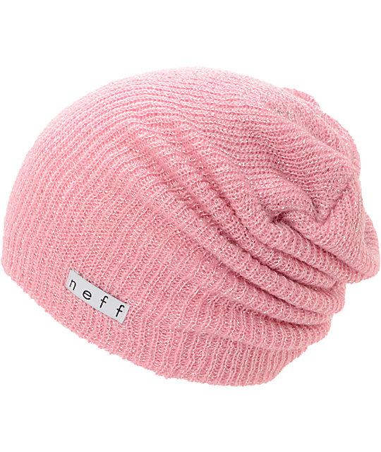 23c1a5fe9d4 Neff Daily Sparkle Pink Beanie