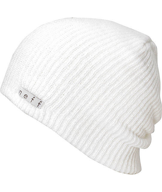 dec0e7eb91e Neff Daily White Beanie