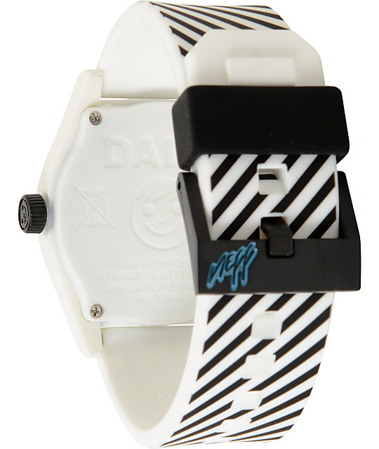 Neff Daily White Stripe Analog Watch