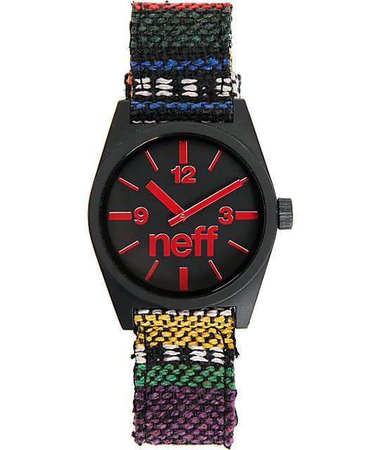 Neff Daily Woven Rug Analog Watch