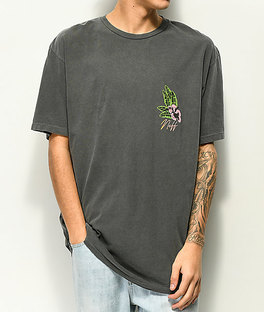 Neff Danger Paradise Washed Black T-Shirt