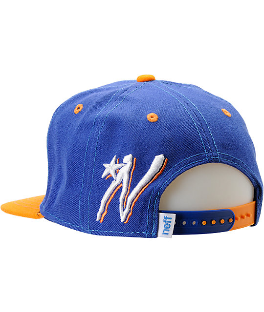 Neff Dash Blue & Orange Snapback Hat
