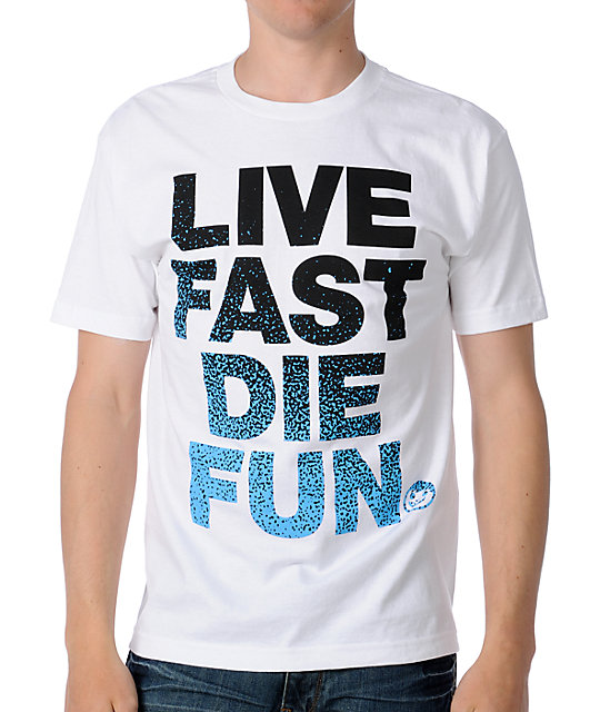 Neff Die Fun White T-Shirt