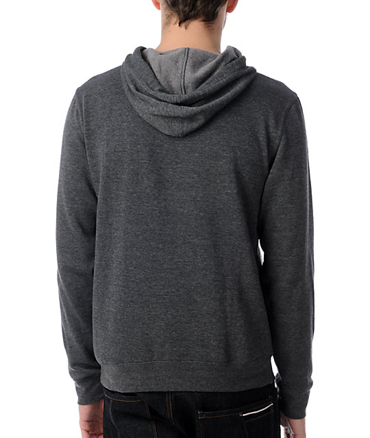 Neff Endangered Charcoal Grey Pullover Hoodie