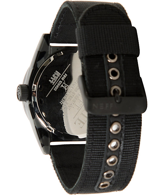 Neff Estate Black Camo Analog Watch