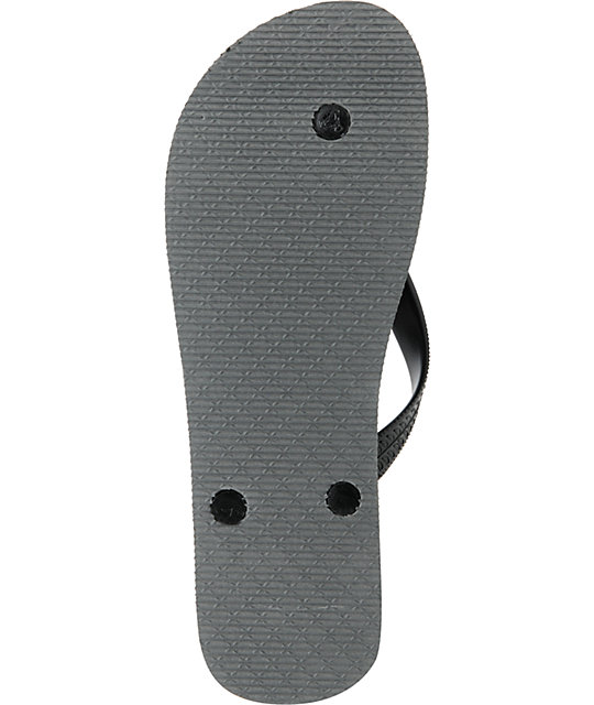 Neff Fish Flop Charcoal Grey Mens Sandals