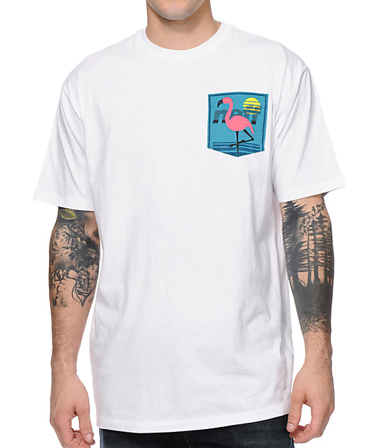 Neff Flamingo White Pocket T-Shirt