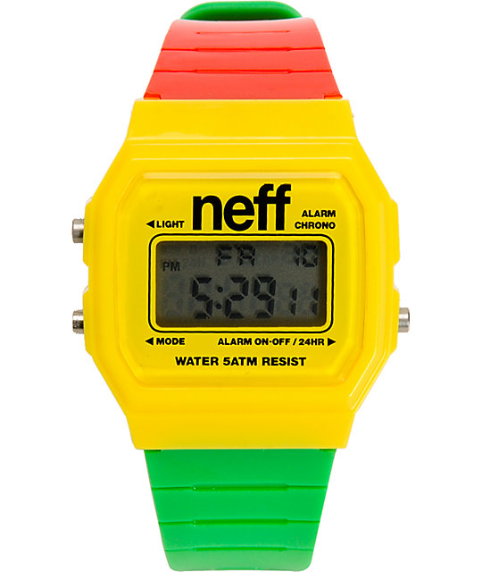 Neff Flava Rasta Digital Watch