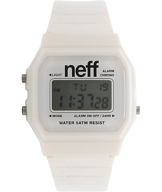 Neff Flava White Digital Watch