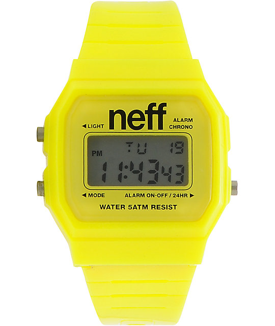 Neff Flava Yellow Digital Watch