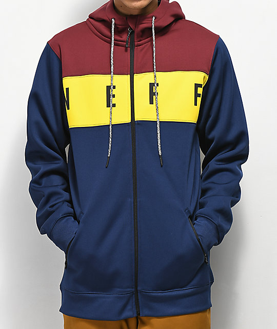 Neff Flint Navy, Yellow & Burgundy Tech Fleece