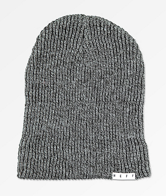 Neff Fold Black Charcoal Heather Beanie