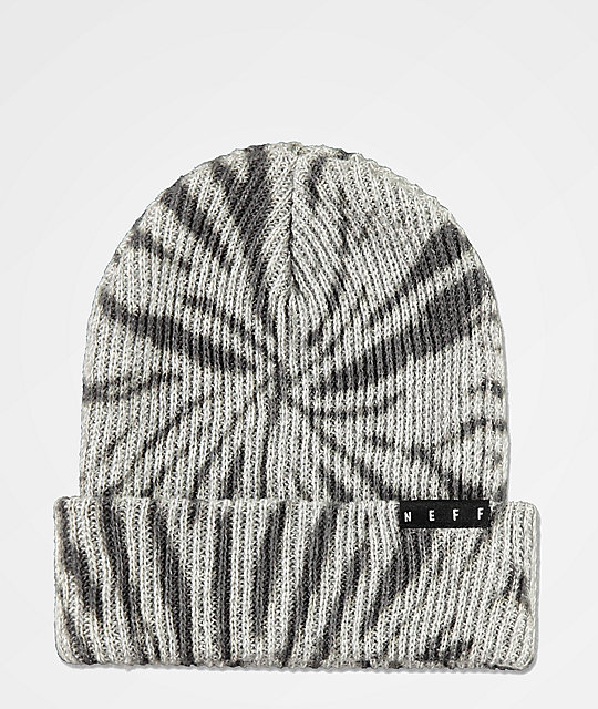 Neff Fold Washed Grey & Heather Black Beanie
