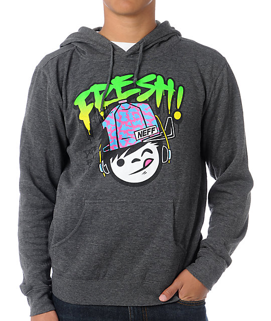 Neff Fresh Sucker Charcoal Pullover Hoodie