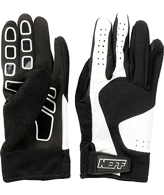 Neff Golfer Black & White Pipe Snowboard Gloves