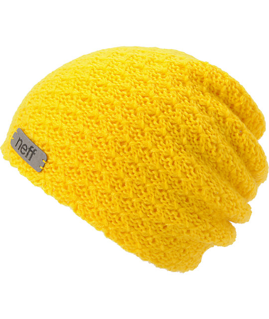 Neff Grams Mustard Yellow Knit Beanie