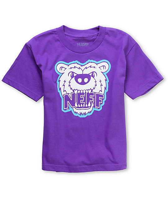 Neff Growly Boys Purple T-Shirt