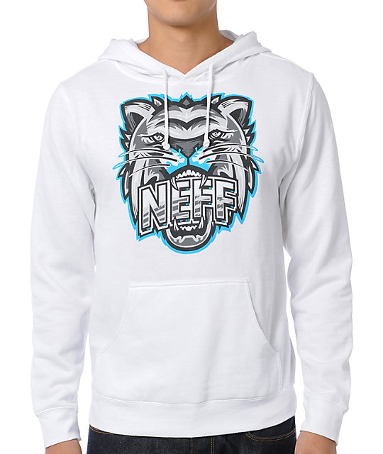 Neff Growly White Pullover Hoodie