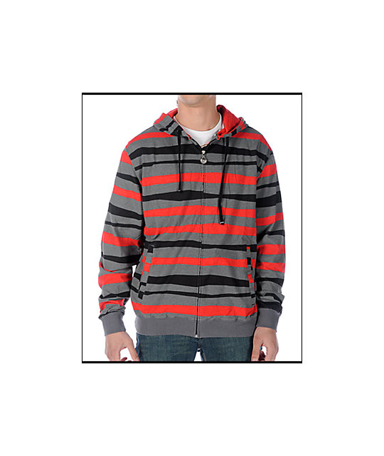 Neff Krook Red striped Hoodie