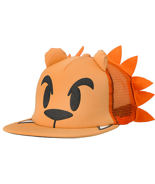 1f1b7a19 Neff Lion Orange Snapback Trucker Hat | Zumiez