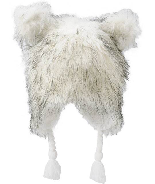 Neff Little Fur White Beanie