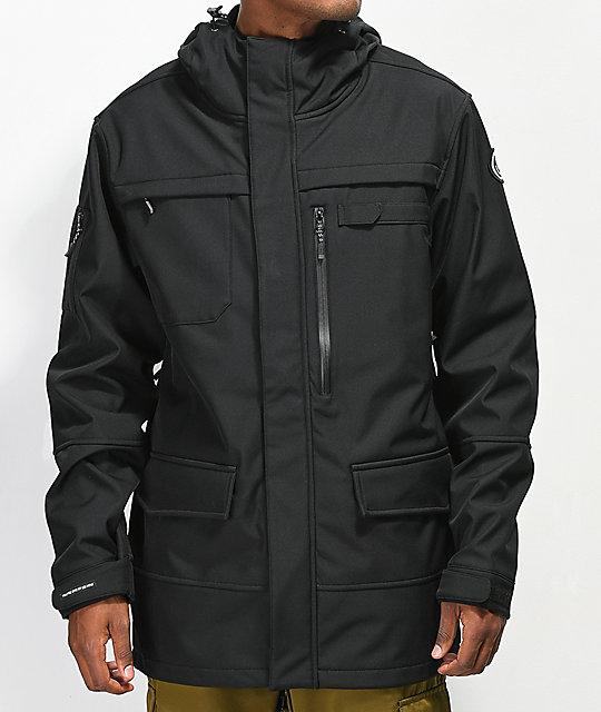6ad8be0aec5 Neff Military Black 10K Softshell Jacket