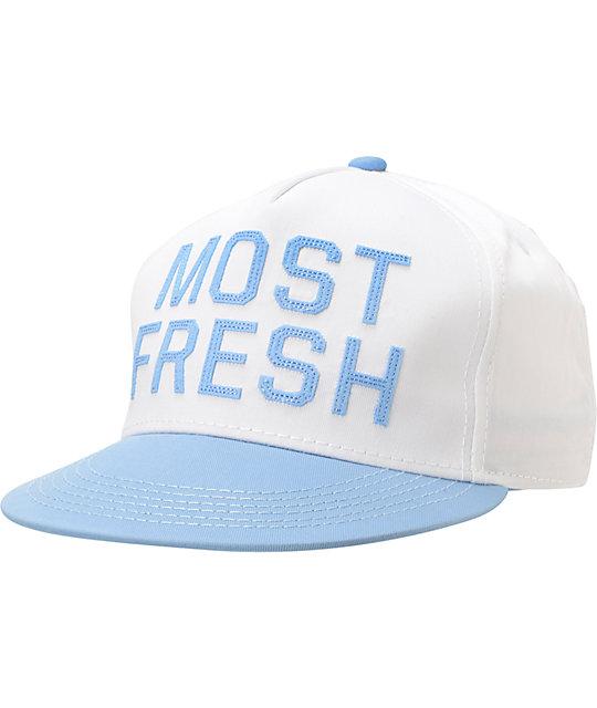 Neff Most Fresh White   Baby Blue Snapback Hat  f8e95c47817