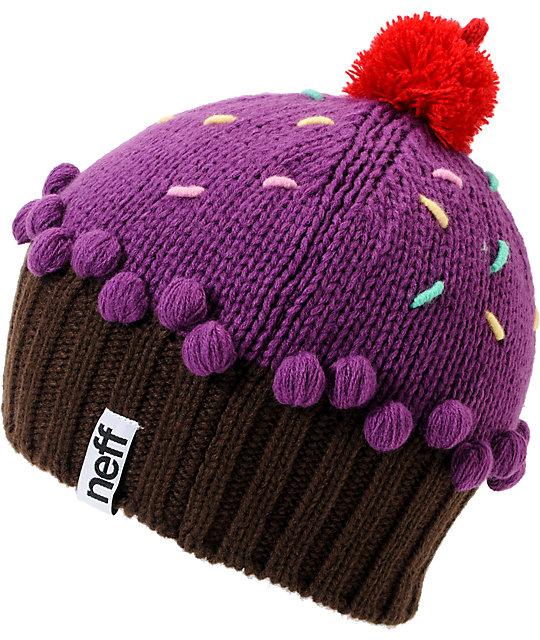 7104e14a79f Neff Neon Purple Cupcake Beanie
