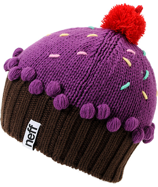 f31fa4fd4 Neff Neon Purple Cupcake Beanie
