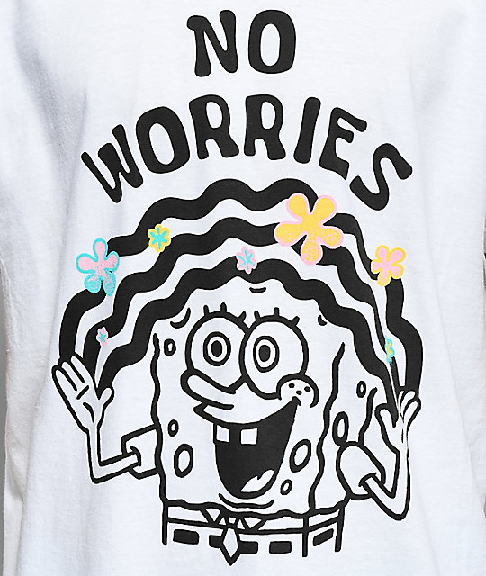 Neff No Worries Spongebob camiseta blanca
