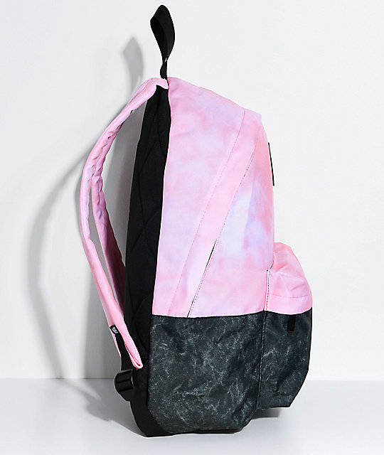 Neff Professor Pink Tie Dye & Charcoal Backpack