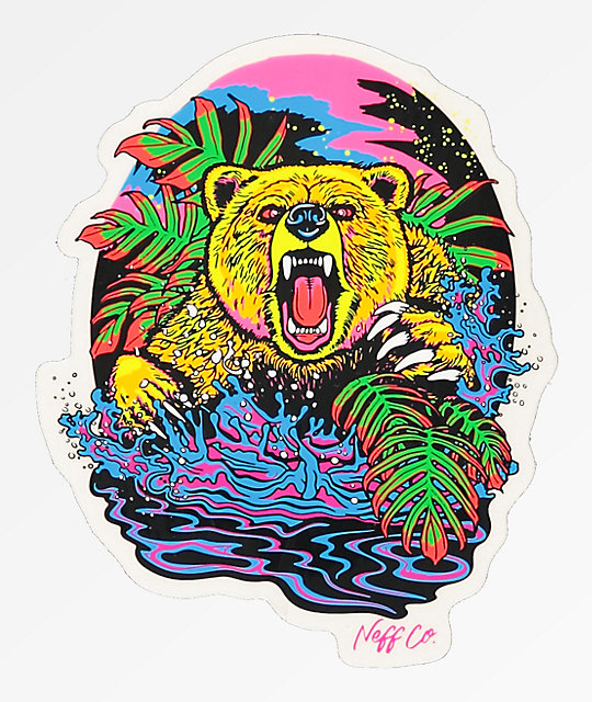 Neff Psychedelic Bear Sticker